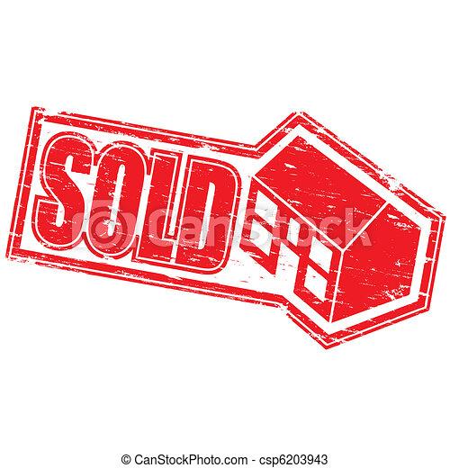 Sold Stamp - csp6203943