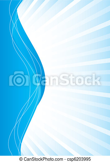 Simple abstract blue background, vector illustration - csp6203995