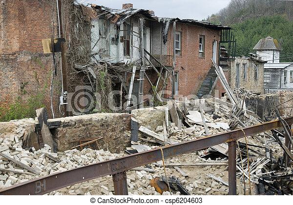 decayed building in pocahontas - csp6204603