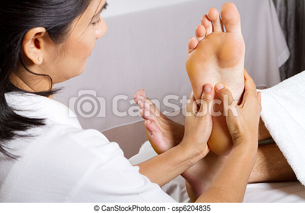 professional foot massage - csp6204835