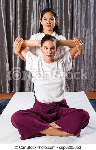 Thai massage stretch - csp6205053
