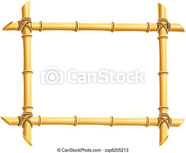 wooden frame of bamboo sticks - csp6205213