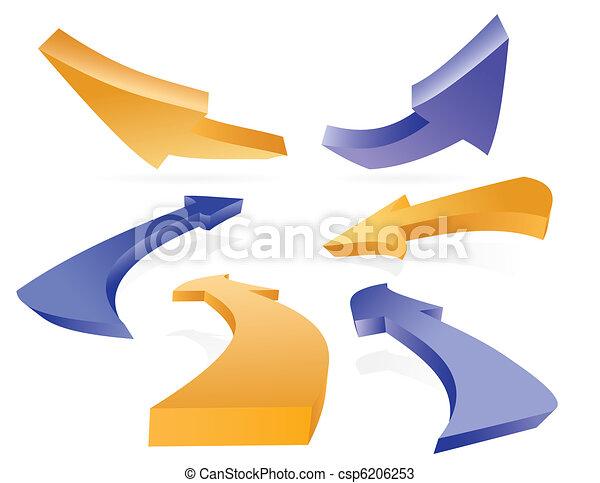 Set of 3D arrows - csp6206253