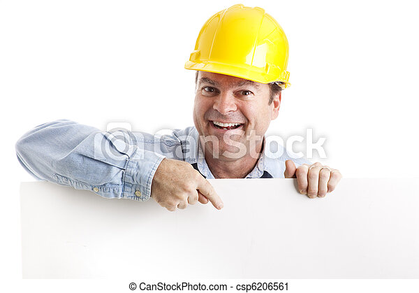 trabalhador, construção, desenho, elemento - csp6206561