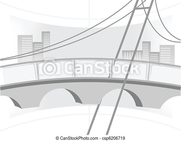 Illustration of the bridge - csp6206719