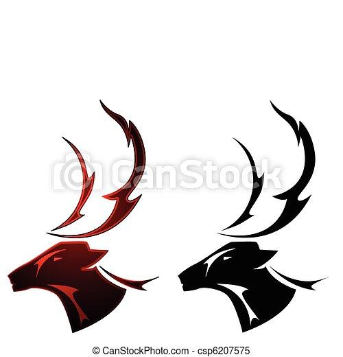 Stag tattoo design - csp6207575