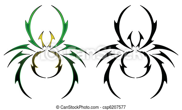 Spider tattoo design - csp6207577