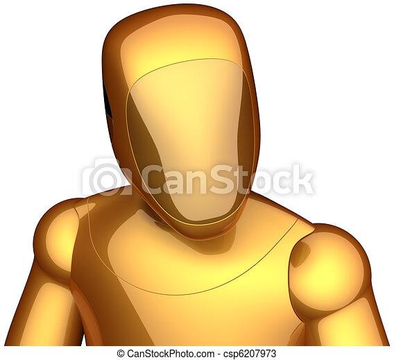 Futuristic Robot Drawings Golden Cyborg Futuristic Robot