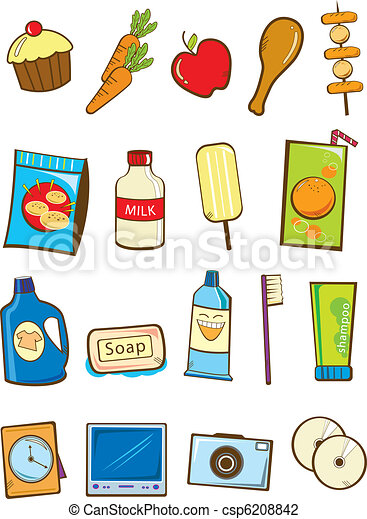 Stock Vector Illustration: Grocery  - csp6208842