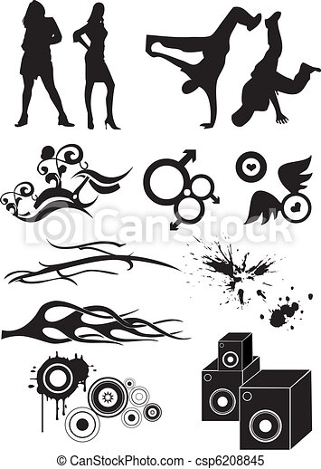 Hip Hop graphic icon - csp6208845