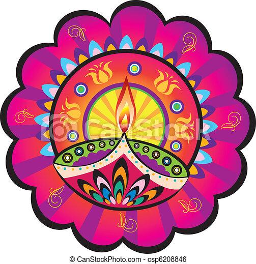 Indian oil lamp - csp6208846