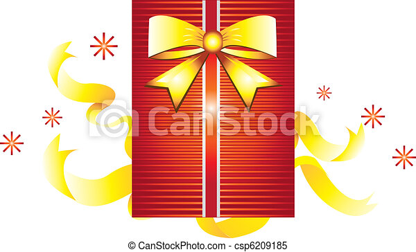 Stock Illustration: Gift box with r - csp6209185