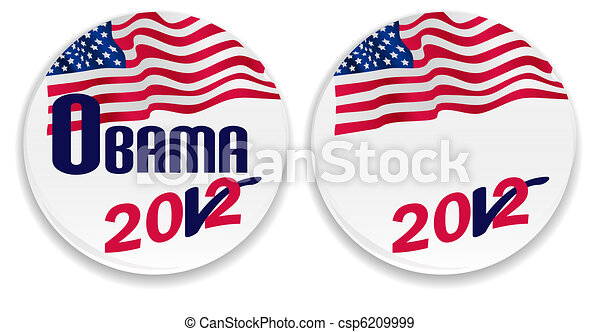 Voting pins with US flag - csp6209999