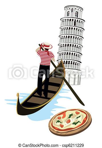 Symbols of Italy - csp6211229