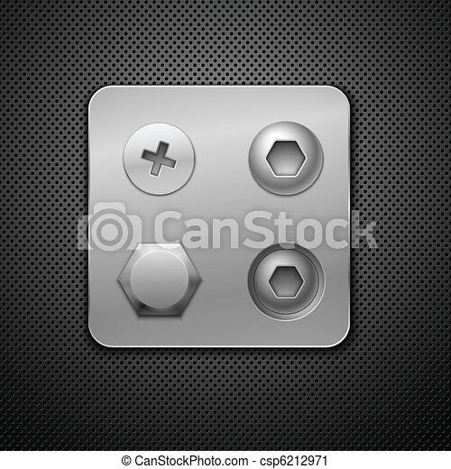 Screws and rivets. Elements for your design.  Realistic vector illustration. - csp6212971