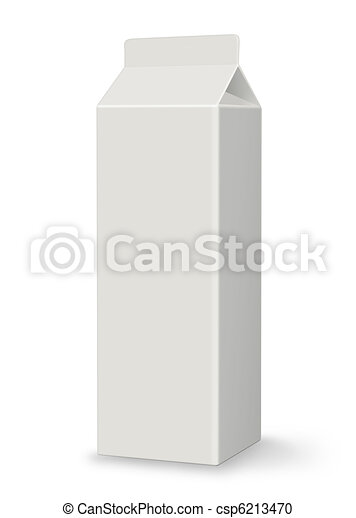Blank Carton - Milk or Juice - XL - csp6213470
