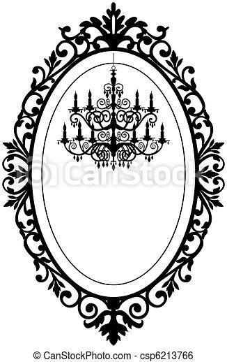 Vintage frame with chandelier - csp6213766