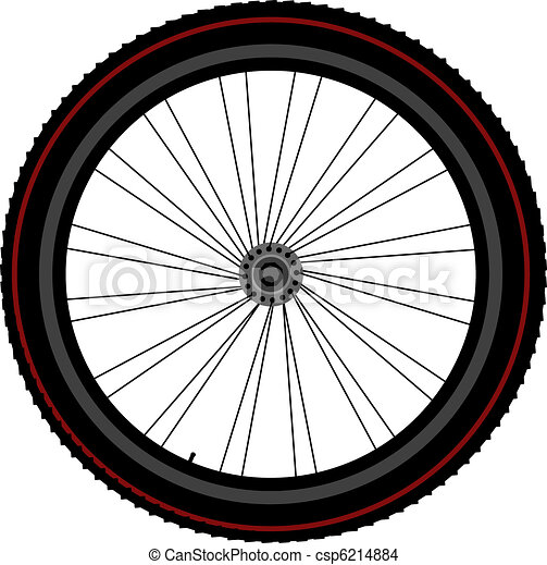 bike wheel tyre disk and gear - csp6214884