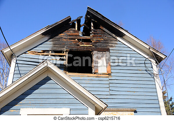 Old Home Burns Down - csp6215716