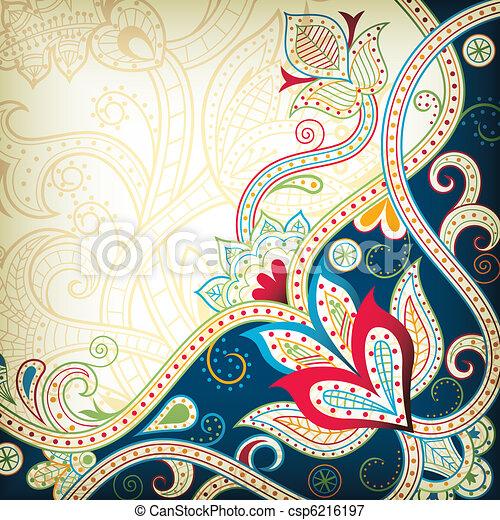 Asia Floral - csp6216197