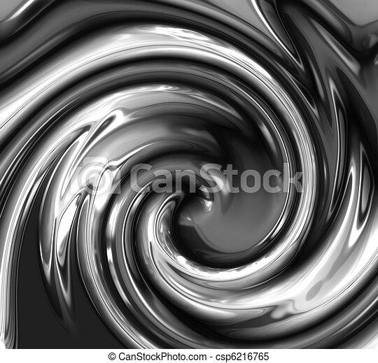 liquid metal abstract swirl - csp6216765