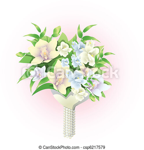 bridal bouquet - csp6217579