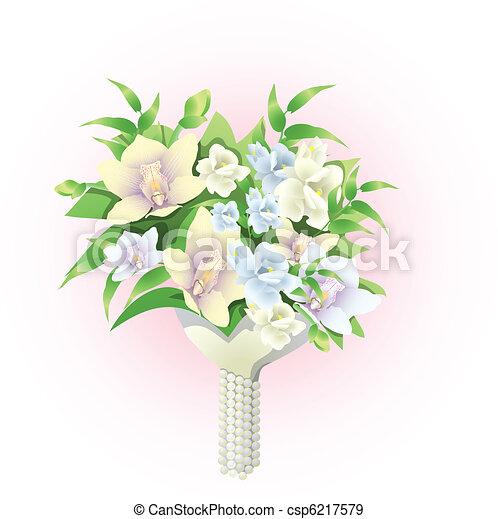 bridal bouquet - csp6217579