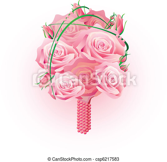 bouquet of roses - csp6217583