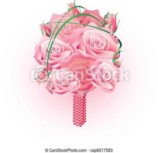 bouquet of roses  - csp6217583