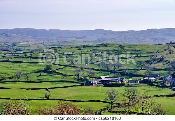 English Rural Rolling Countryside - csp6218160