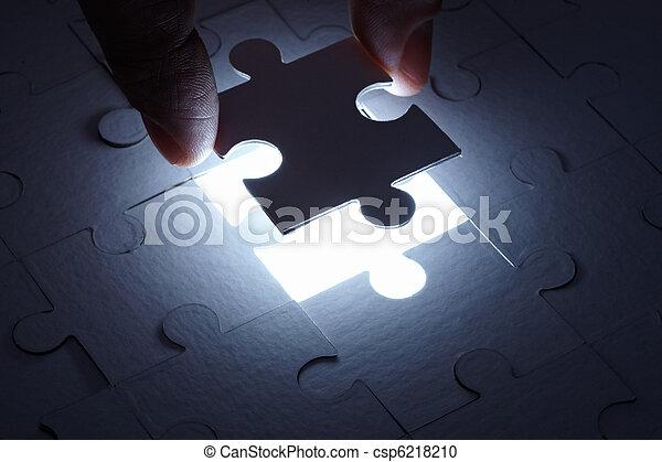 puzzle game solution teamwork - csp6218210