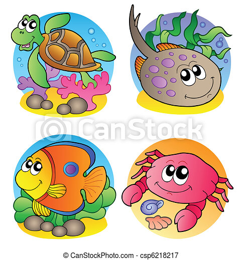 Various marine animals images 1 - csp6218217