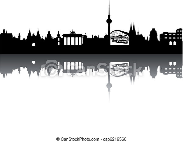 Germany Silhouette abstract - csp6219560
