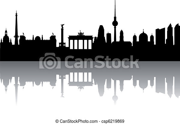 Berlin Silhouette abstract - csp6219869