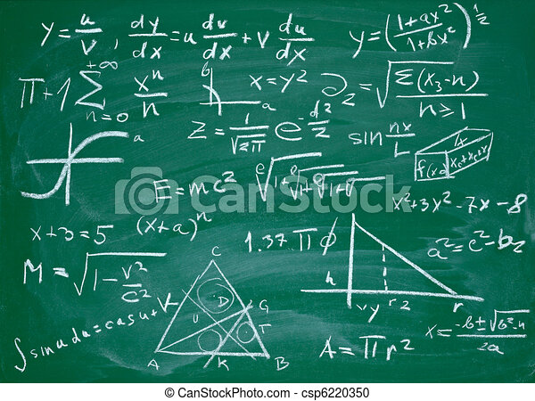 math formulas on school blackboard education - csp6220350