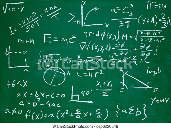 math formulas on school blackboard education - csp6220546