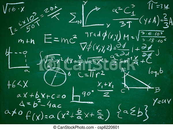 math formulas on school blackboard education - csp6220601