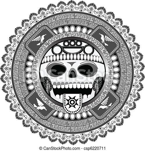 stylized deity of aztec - csp6220711