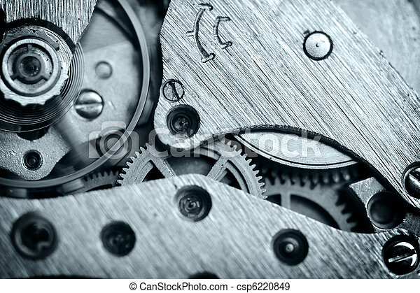watch mechanism very close up - csp6220849
