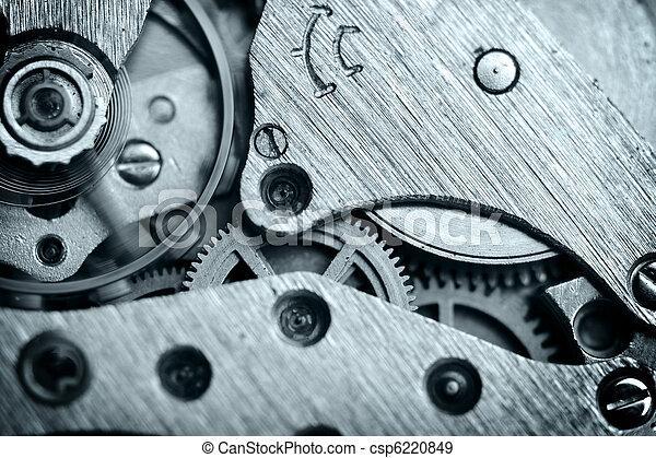 watch mechanism very close up - csp6220849