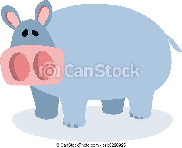 Cartoon hippopotamus - csp6220925