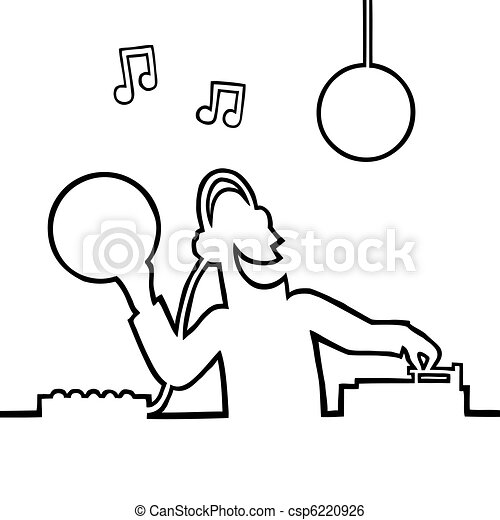 Disc jockey playing a record - csp6220926