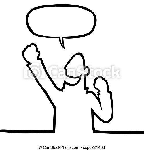 Happy person cheering - csp6221463