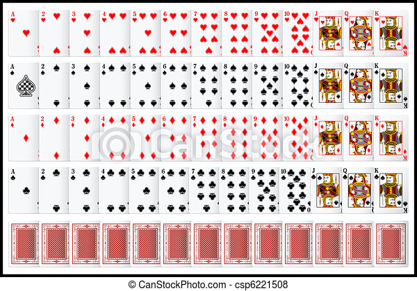 Complete set of Playing Card - csp6221508