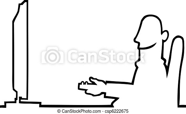 Person watching television - csp6222675