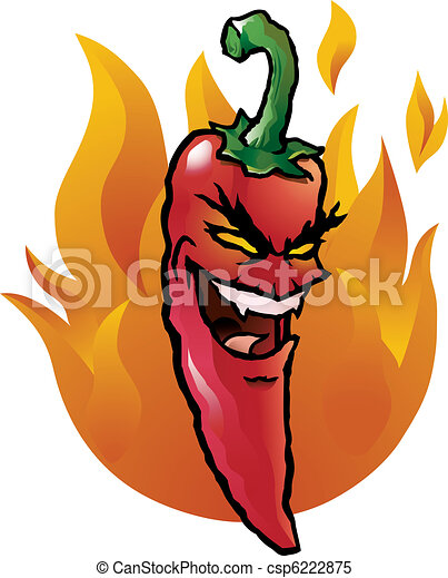 Evil red chili pepper - csp6222875