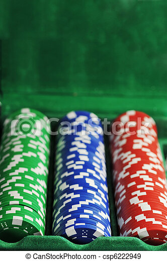 different color chips