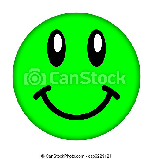 clipart de smiley figure vert smiley figure sur a blanc fond csp6223121 recherchez. Black Bedroom Furniture Sets. Home Design Ideas