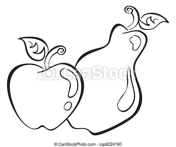 Apple and pear - csp6224190