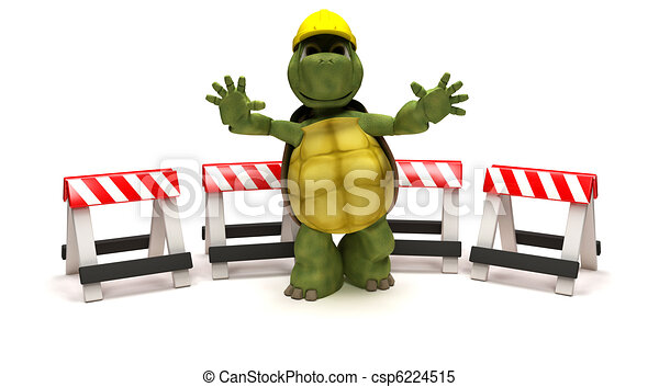 tortoise with a hazard barriers - csp6224515